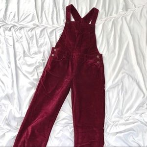Gap red corduroy overalls, girls XXL